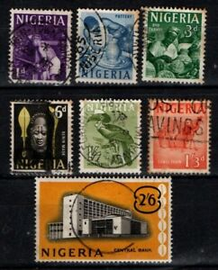 Nigeria 1961 Pictorials selection to 2/6 Used