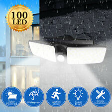 100 LED Solar Lamp Outdoor Garden Yard Waterproof PIR Motion Sensor Wall Light