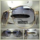 Mens or Women Classic Vintage Retro Style SUN GLASSES Gold Frame Light Tint Lens