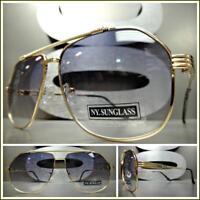536a28e7b3 Mens or Women Classic Vintage Retro Style SUN GLASSES Gold Frame Light Tint  Lens