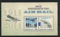 MAD328) Australia 2014 First Airmail Minisheet MUH