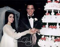 PRISCILLA PRESLEY Signed ELVIS WEDDING 11x14 Photo IN PERSON Autograph JSA COA