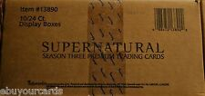 Supernatural Season 3 inkworks Sealed Case 10 Box Lot Auto Costume Trading Cards