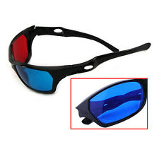 Red Blue 3D Glasses Black Frame For Dimensional Anaglyph TV Movie DVD Game Hot