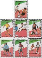 Nicaragua 2934-2940 gestempeld 1989 WK 1990, Pizza
