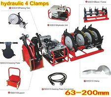 hydraulic 4Clamp PE Butt Pipe Fusion Welder electrofusion machine 63mm-200mm New