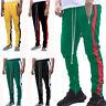 Fashion Men's Fleece Lined Track Pants Track Suit Pants Striped Casual w/ Pocket