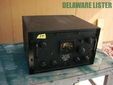 WW2 WWII US NAVY Military Radio Receiver 80kc to 24mc E H Scott RCH CZC