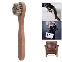 1pc manico in legno setola cavallo spazzola per capelli scarpa avvio lucidareYS8