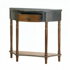 Hall Entryway Livingroom Console Table Brown Home Organization Tables Antiqued