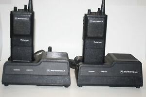 2 Motorola Radius P200 H44RFU7160BN Two Way Radio w/ 2 Chargers *
