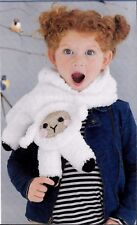 LIZZY THE LAMB CHILD'S  ANIMAL SCARF - CROCHET PATTERN
