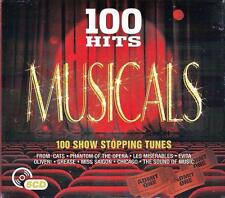 100 HITS MUSICALS - 100 SHOW STOPPING TUNES (NEW 5CD) CATS-EVITA-CHICAGO-GREASE