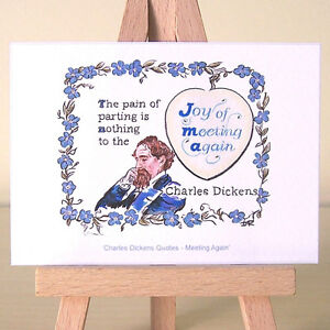 romantic Charles Dickens ACEO Art Quote ~ vintage lettering and flowers drawing