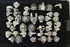 Style Skull Rings Eagle Veterans 42 pcs Jewelry Lot Mixed