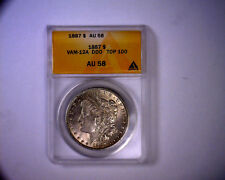 ANACS AU58 BEAUTIFUL ALLIGATOR EYE 1887 TOP 100 VAM 12A MORGAN SILVER DOLLAR