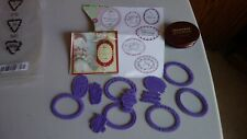 JustRite Oval Christmas Nested Sentiments Christmas With Wood Stamp Penquin
