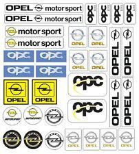 Opel Motorsport OPC line Aufkleber Sticker Schwarz 1 Set 34 Stk. Astra, Corsa..