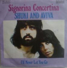 "7"" 1972 VG++ SUNG ENGLISH ! SHUKI & AVIVA : Signorina Concertina"
