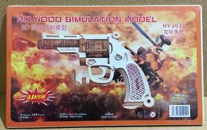 Wooden Gun 3D Puzzle 🧩 Toy Revolver Model Assembly Gift for Kids Boy Teens