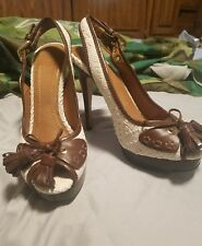 ZARA shoes size 41spring/Summer 2011 sling back open toe cream heels
