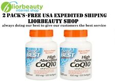 2 pack-Doctor's Best, High Absorption CoQ10 with BioPerine, 100 mg, 120 Softgels