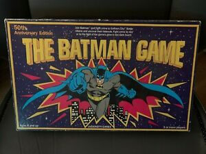 50TH ANNIVERSARY EDITION THE BATMAN GAME NO INSTRUCTIONS 1989