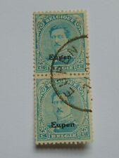 Belgien Eupen senkrechtes Paar (.) Freimarke 25 C, 1920, Mi 7, mit Falzrest