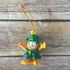 Garfield Christmas Tree Ornament - Dressed Up as a X-Mas Tree w/Star Topper