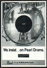 1977 Pearl Drums vintage JAPAN promo photo print ad / mini poster advert p08m