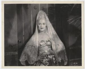CARMEL MYERS 1927 Vintage SIGNED Hollywood Portrait LACE ENCHANTRESS