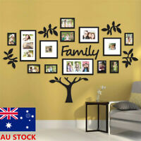 1 Set Black Photo Frame Family Tree Picture Collage Wall Art Hanging Home