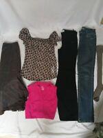LOT 6 vêtements 36 femme fille ado pantalon noir bas large neuf chaussettes neuf