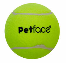 "Petface Mega 15cm 6"" Diameter Tennis Ball Puppy Dog Outdoors Fun Play Toy Yellow"