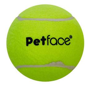 "Petface Mega 15cm 6"" Diameter Tennis Ball Puppy Dog Outdoors Fun Play Toy Yellow"