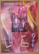 PRINCE AND THE REVOLUTION Live 1985 US ORG Promo POSTER for Music Video MINTY!