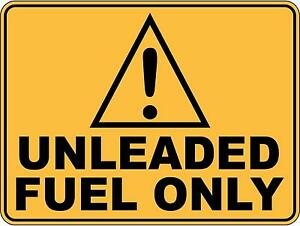 Caution Unleaded Fuel Only 5 Sticker Sign Decal Set Public Safety WH&S OHS WHS