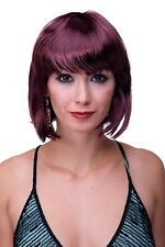 aubergine-roter Bob Sexy perruque de dames Carnaval Court & osé pw0114-pc99