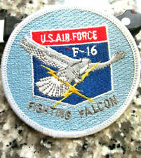 Lot de 4 F-16 Fighting Falcon USAF Air Force Jet Applique iron-on patches NEUF