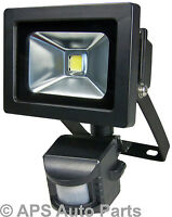10w LED Security Floodlight PIR Motion Sensor Warm White Outdoor Garden Lamp New