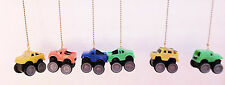 Handcrafted 4 X 4 toy Trucks ceiling fan / light pull chains