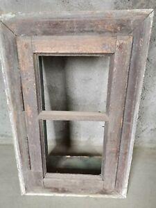 Vintage Old Wood Window, Solid Wood, Reclaimed Wood