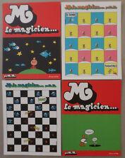 L'ASSOCIATION / PIF GADGET * 4 CARTES POSTALES PUBLICITAIRES. M. LE MAGICIEN *