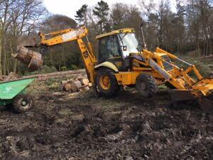 backhoe excavator log / waste thumb grab grapple suit JCB, 3cx telescopic