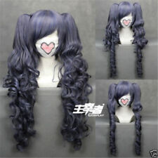 Black Butler Kuroshitsuji Ciel Phantomhive Cosplay Wig +Clip Ponytails  +Wig Cap