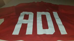Adidas Retro Red Long-Sleeved summer loose Jumper designer 100% cotton