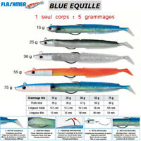 FLASHMER : BLUE EQUILLE : Texan Sand Eel ! VERY REALISTIC SWIMMING !