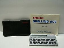 Franklin Spelling Ace Sa-95 With Pouch Needs a Cr2032 Battery B4