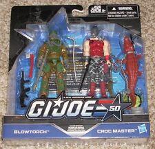 Hasbro GI JOE Cobra 50th BLOWTORCH vs CROC MASTER 3.75 Action Figure TRU 2-pack