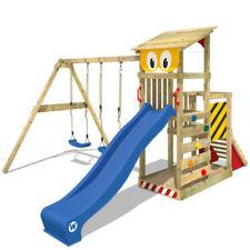 WICKEY Smart Scoop Climbing Frame garden playground slide doubleswing sandpit